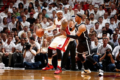 lebron james nba 140514 mia vs bkn 05 game 5 LeBron Closes Out Brooklyn in new Soldier 7 Heat Away PEs