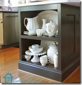 shelf on kitchen island