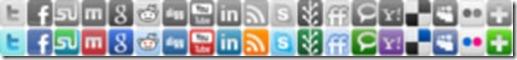 icones sociais em sprite