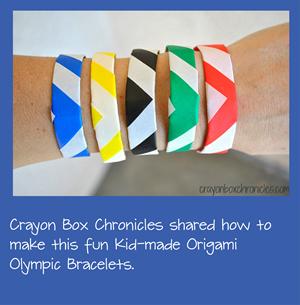 Origami Olympic Bracelets for Kids