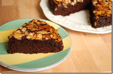 Chocolate - Nut Upside - down Cake