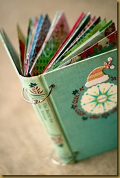 journal with cards