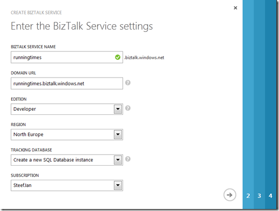 3 BizTalk Service Settings