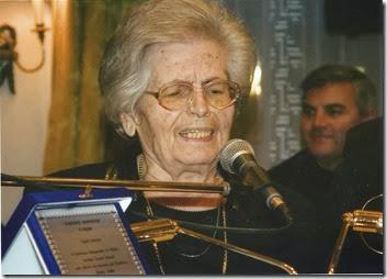 2007 ή  2008, Βράβευσή  της  απ' το  σύνδεσμο  Λιδορικιωτών η Γκιώνα μ στη  Μεγάλη  Βρετανία