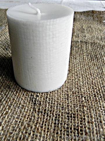 burlap texture on candle