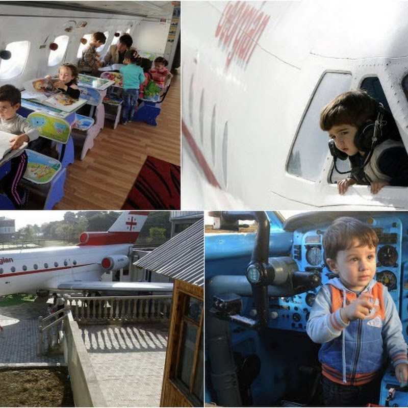 Old Airplane Turned Into a Kindergarten