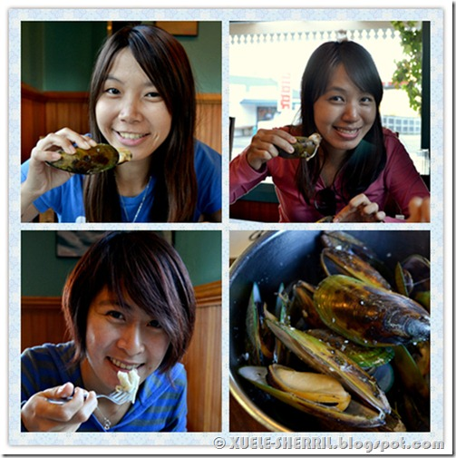 eating mussels