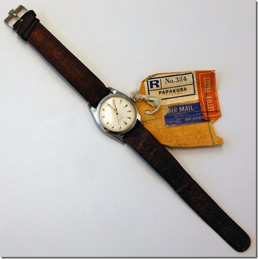 Sir Edmund Hillary' Rolex Oyster Perpetual Chromometer worn as he summited Mt. Everest 1953 via Arane
