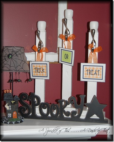Halloween Mantle Decor {S Sprinkle of This . . . . A Dash of That}