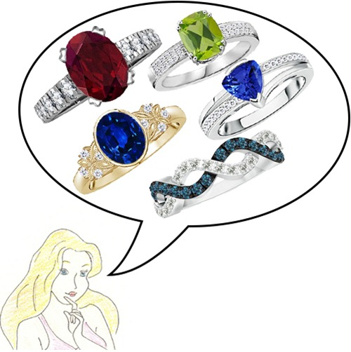 Colored Gemstone Rings Sets