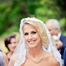 Beautiful Bride by Alan Evans - Wedding Bride ( great ocean road wedding photographer, great ocean road, wedding photography, wedding day, wedding, wedding veil, aj photography, lorne wedding photographer, wedding flowers, wedding dress, bride )