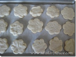 baked flower cookies
