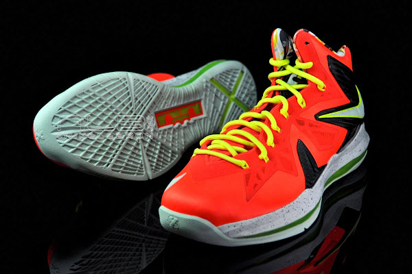 The Showcase Nike LeBron X PS Elite Crimson amp Volt