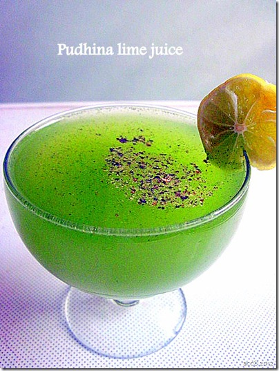 pudhina lemon juice