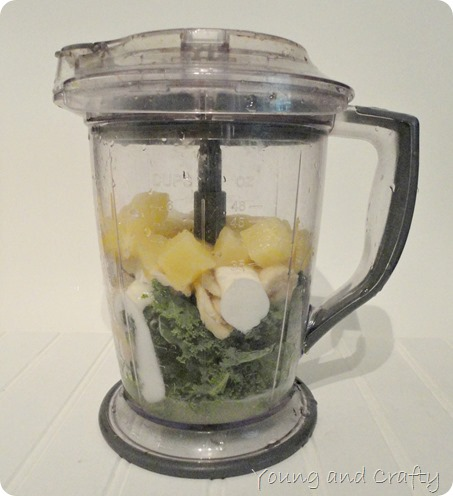 Pineapple Kale Banana Smoothie
