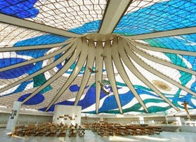 Catedral Metropolitana, interno - Oscar Niemeyer, Brasilia