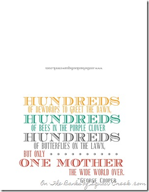 Free printable for Mother's Day