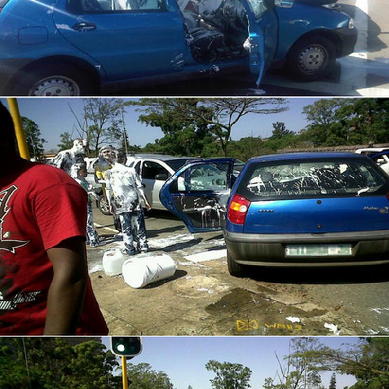 Dilarang sama sekali letak tong berisi cat di dalam kereta anda !