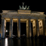 Brandenburg Tor by night in Berlin, Berlin, Germany