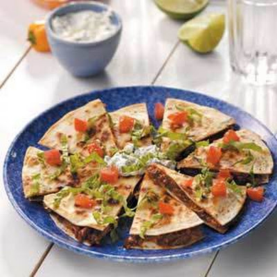Barbecued Beef Quesadillas