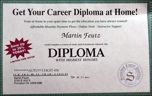 Martins diploma
