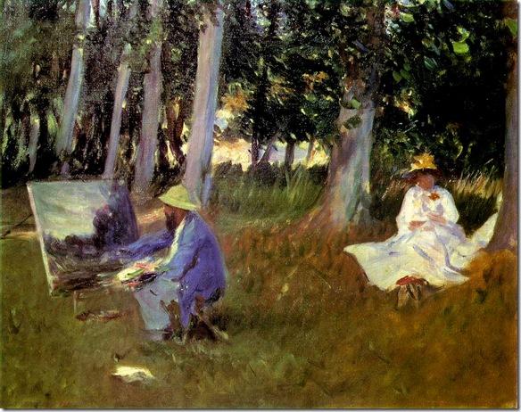 John-Singer-Sargent -1887-Claude-Monet-Painting