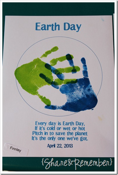 Happy Earth Day! handprint art