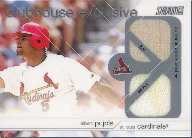 2002 Stadium Club Pujols Dual Bat Jersey
