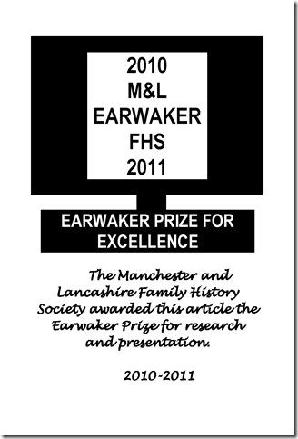 Earwaker Prize