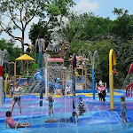 "Singapore Zoo's ""Rainforest Kidzworld"" is a water play area for Children."