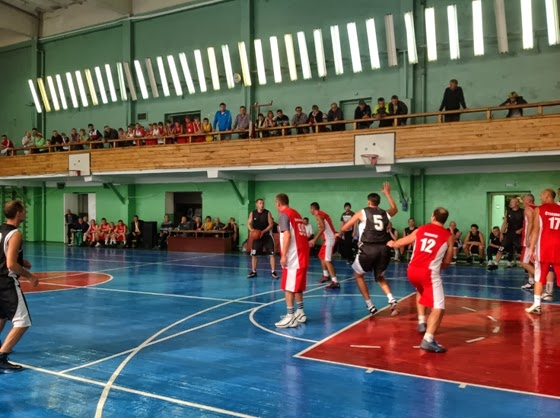 Матч ветеранов баскетбола Алчевска и Луганска - 2013
