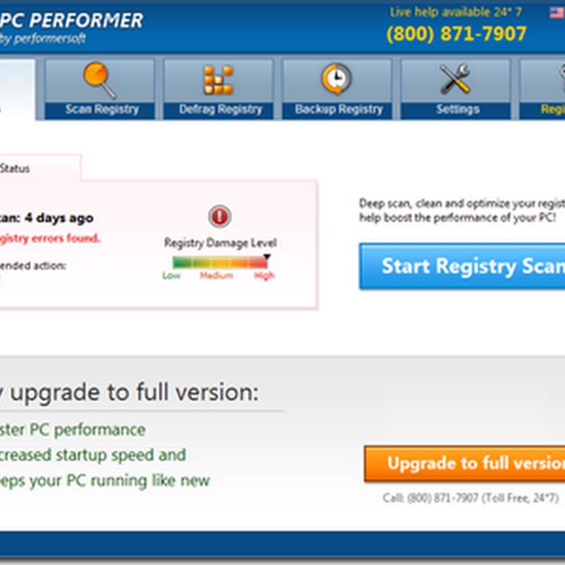 การลบโปรแกรม PC PERFORMER ออกจากเครื่องคอมพิวเตอร์
