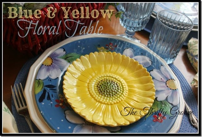 blue & yellow floral table2
