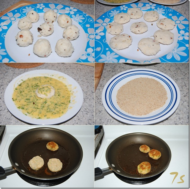 Upma cutlet process