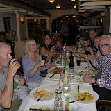 Vi spiste på italiensk restaurent og fejrede Vibekes fødselsdag på dagen