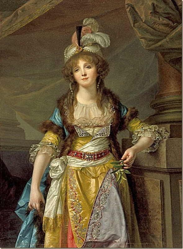Jeune femme en costume turc