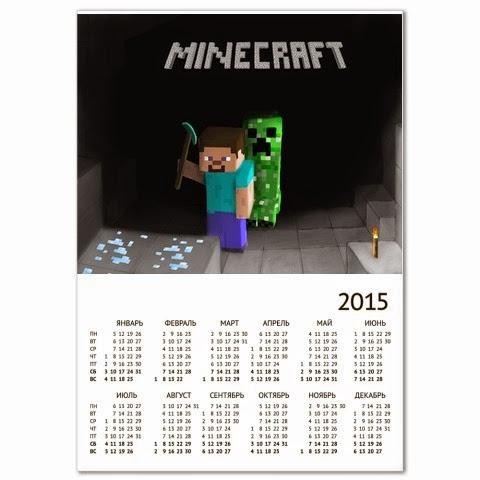 календарь минекрафт