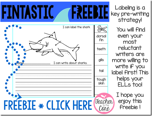 Do your students love sharks and all manner of ocean life- Mine are insane for label and write activities- This freebie freaturing sharks is sure to please-smaller-