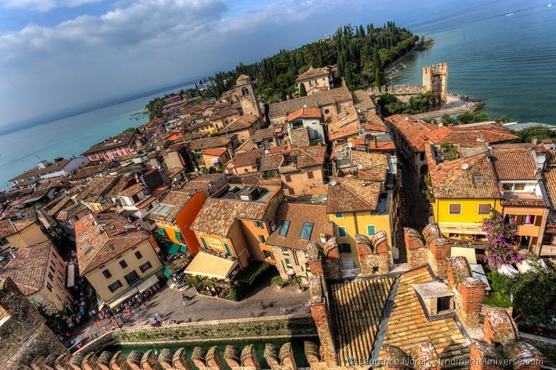 sirmione view from castle ramparts italy garda lake