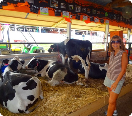 Marsha with cows