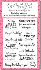 Craft Spot Birthday Wishes stamp set