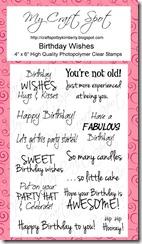 Craft Spot Birthday Wishes stamp set
