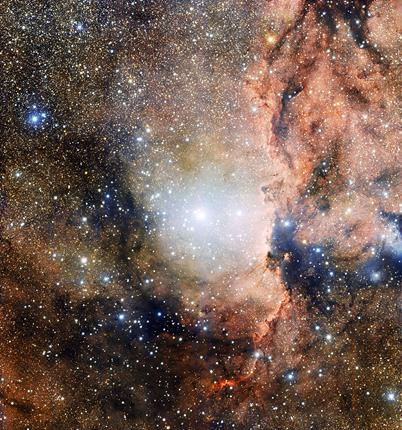 o aglomerado estelar NGC 6193 e a nebulosa NGC 6188