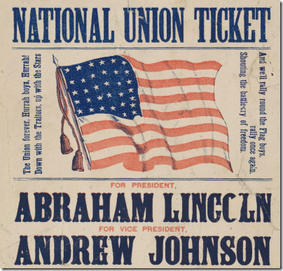 Election poster - 1864