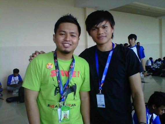 Rusabawean dan Feri Yunus Madao di kopdar blogger nusantara 2011