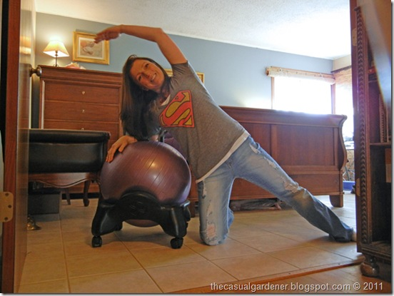 exercising with the Gaiam Balanceball Chair