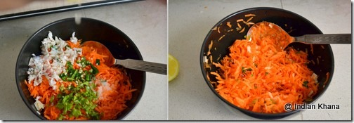 easy kothambari carrot coconut salad recipe