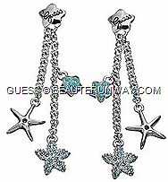 GUESS Jewellery 2012 Spring Summer Ocean Glam collection stunning starfish, statement oversized bib necklace, cuff bracelets, earrings and ringsbwith turquoise enamel aqua genuine crystal