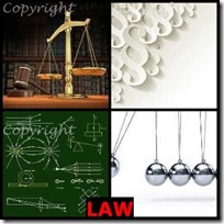 LAW- 4 Pics 1 Word Answers 3 Letters