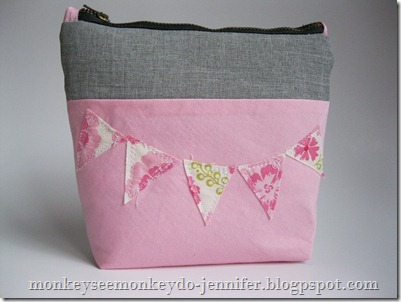 zippered flag pouch #sewing